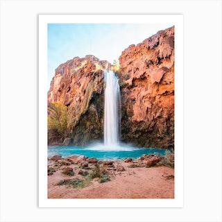 Desert Oasis Waterfall 2 Art Print