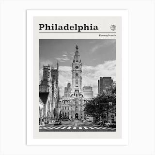 Philadelphia Black And White Art Print