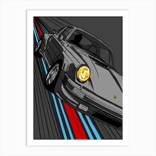 Car Porsche 911 Martini Art Print