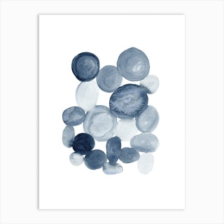 Abstract Pebbles Art Print