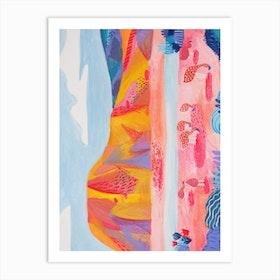 Bolivia Lago Colorado  Art Print