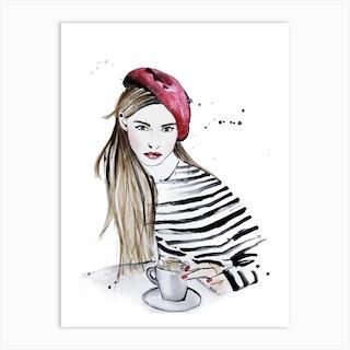 Afternoon Coffee In Paris Art Print