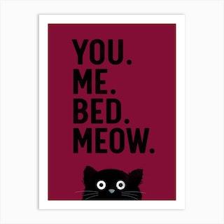 Cat Meow Three Art Print