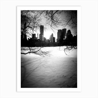 Central Park City And Trees 1 Art Print