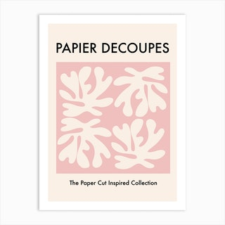 Papiers Paper Cut Pink Art Print