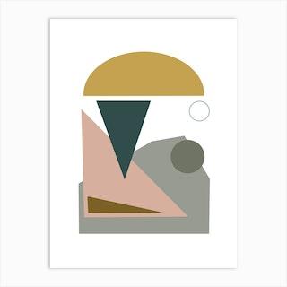 Yellow Dome Abstract Art Print