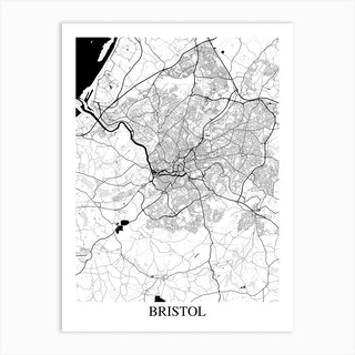 Bristol White Black Art Print
