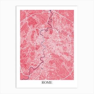 Rome Pink Purple Art Print