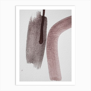 Aquarelle Meets Pencil Nude And Earth Art Print