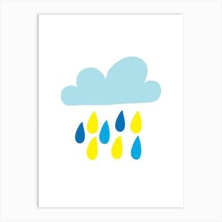 Blue Rain Cloud Art Print