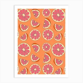 Grapefruit Print Art Print