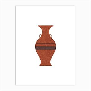 Minimal Greek Pot Hydria Art Print