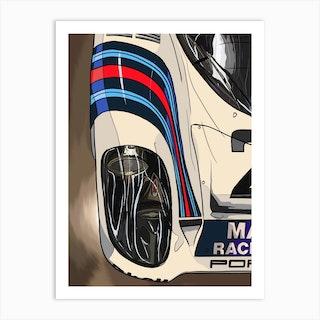 Car Porsche 917 Le Mans Martini Art Print
