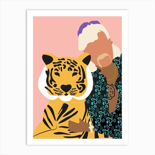 Joe Exotic Pink Tiger 2 Art Print