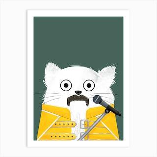 Cat Freddie Art Print