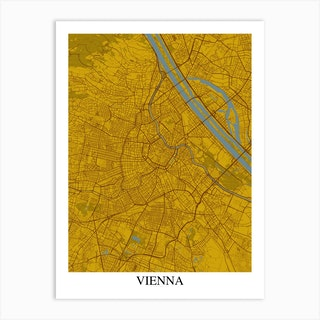 Vienna Yellow Blue Art Print