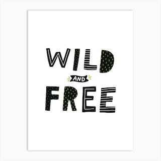 Wild And Free Dinosaur Art Print