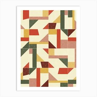 Tangram Wall Tiles 02 Art Print