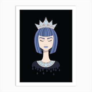 Queen Of Sorrow Art Print