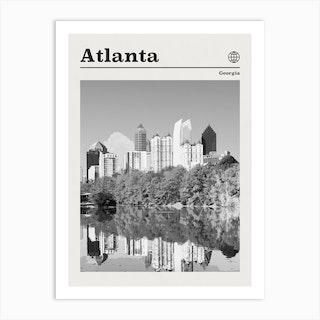 Atlanta Georgia Black And White Art Print