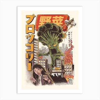 Broccozilla Art Print