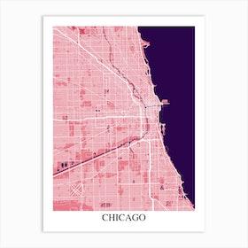 Chicago Illinois Pink Purple Art Print