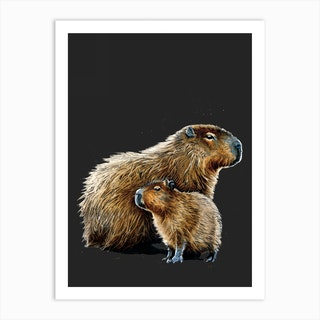 The Capybaras Art Print