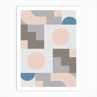 Pastel And Geometric Art Print