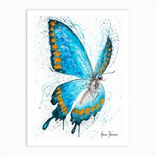 Fresh Morning Butterfly Art Print