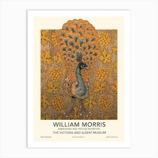 Peacock Exhibition Poster, William Morris Art Print