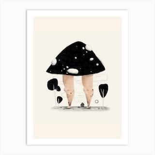 Mushroom Legs Art Print