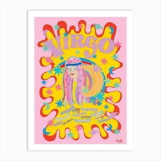 Virgo Zodiac Starsign Art Print