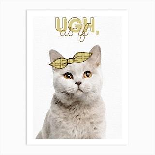 Clueless Cat Art Print