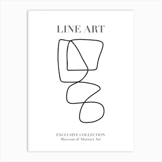 Line Art Abstract Collection 03 Art Print
