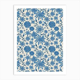 Blue Bloom Art Print