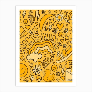 Yellow Print Art Print