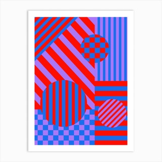 Checks And Stripes Art Print