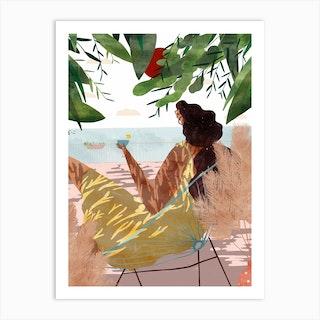 Vue Sur Mer Art Print