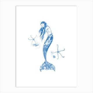 Mermaid With Brittlestars Art Print
