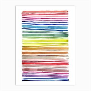Rainbow Abstract Lines Art Print