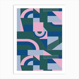 Outlandish Blocks Art Print