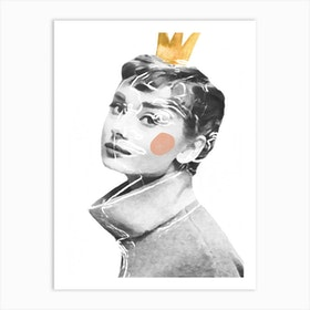Queen Audrey Art Print