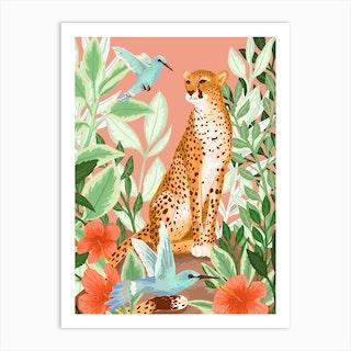 Tropic Cheetah Art Print