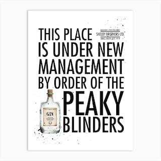 New Management Peaky Blinders Art Print