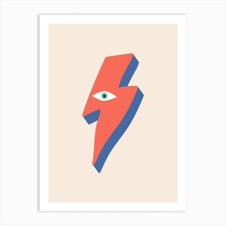 Ziggy Bowie Eye Art Print