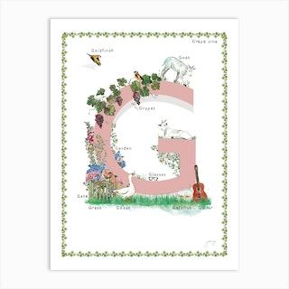 G Is For In Pink Art Print