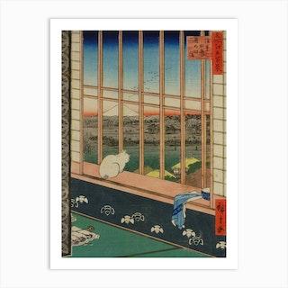 Yoshiwara teahouse, Utagawa Hiroshige Art Print