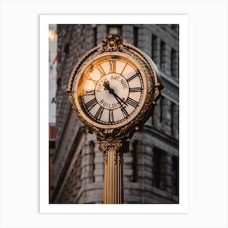 Fifth Avenue Clock Art Print