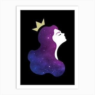 Galaxy Princess Art Print