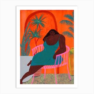 Orange Melancholy Art Print